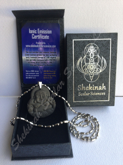 LAUGHING BUDDHA Shekinah Zero-point Energy Pendant 7127 Ions